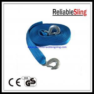 EN12195 4M / 6M / 8M Blue heavy duty lashing straps 50mm Belt Width for truck Manufactures