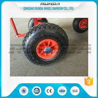 Natural Rubber Inflatable Trolley Wheels PP Rim 16mm Axle Hole Centered Hub 3.00-4 Manufactures