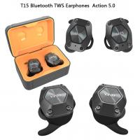 China Stereo Wireless Bluetooth Earphones T15 Earbuds Comfortable Design For Running on sale