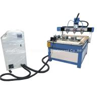 Quality 3 Heads 3 Rotary Axis Wood Metal Stone CNC Engraving Cutting Machine for sale