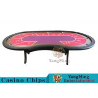 10 Seats Casino Poker Table With environmentally friendly PU leather armrest Manufactures