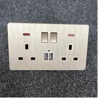 110V ~ 250V British Standard Module Wall Switch Socket For Hotel / Apartment Manufactures