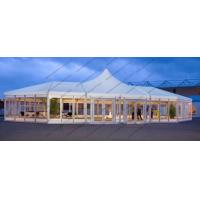 Custom Made Mixed High Peak Wedding Party PVC Tent For 500 Person capacity Event Manufactures