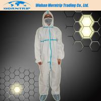 Reinforced Disposable Waterproof  PP SMS Microporous Nonwoven Safety Coverall Manufactures