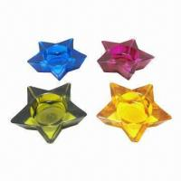 Colorful glass candle holder  Manufactures