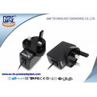 UK Plug 12V 0.5A Wall Mount Power Adapter for Recorders , 1.5m Typical Cable Manufactures