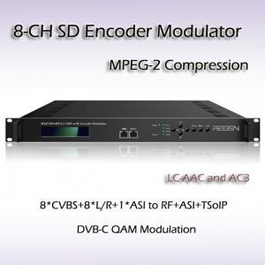 Eight-Channel CVBS A/V TO DVB-C MPEG-2/H.264 SD Encoding Modulator REM7308 Manufactures