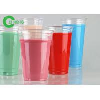Recyclable Clear PET Plastic Cups 600ml Strong Easy To Hold For Restaurants Manufactures