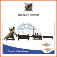 China Four Way Entry Pneumatic Wooden Pallet Nailing Line with Adjustable Size on sale