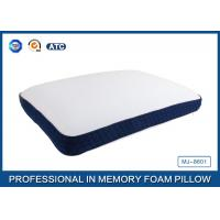 Bread Shaped Cool Silica Gel Memory Foam Pillow With Piping Zippered Cover Manufactures