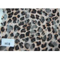 China Custom Digital Printed Stretch Sexy Leopard Lace Fabric By The Yard on sale