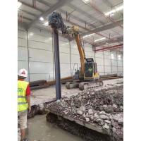 Stable Running Mini Pile Driver , Hydraulic Pile Driver For Mini Excavator Manufactures