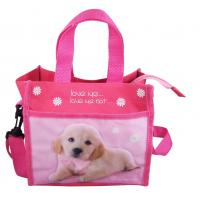 Children Zip Tote Bag Pet picture Lunch handbags Polyester 21×19×12 cm Manufactures
