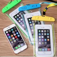 Buy cheap IPX8 Water-Resistant Phone Dry Bag Waterproof Phone Pouch with Fluorescent Frame from wholesalers