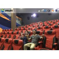 Electrical / Hydraulic4D Movie Theater Equipment For Action Movies 4 seats - 100 seats Manufactures