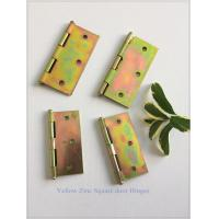 Zinc Plated Heavy Duty Door Hinges Wooden Packing Yellow Color 6 Pair Manufactures