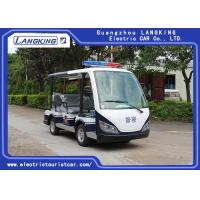 8 Person Black Seats Electric Tourist Car Max Speed 28km/H For Public Area Transportation With Top Light Manufactures