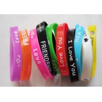 China Durable Printed Adult Custom Silicone Bracelets With 202 * 12 * 2 Mm on sale