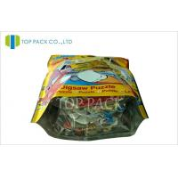Resealable Zip Lock Stand Up Pouches , Gravure Printed Custom Zip Pouch Bags Manufactures