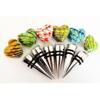 Heart Shaped Hand Blown Glass Wine Stoppers Manufactures