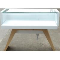 Veneer Wood Material Cell Phone Display Cabinets With LED Strip Lights Manufactures