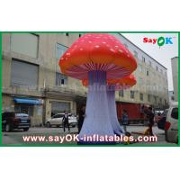 China Oxford Cloth Custom Inflatable Products Giant LED Lighting Inflatable Mushroom on sale