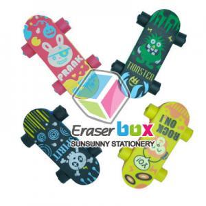 SEP009 Skateboard shaped sport TPR puzzle eraser, kids sport eraser Manufactures