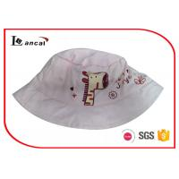 China Offset Printed Bucket Hat , Light Pink Little Giraffe Fisherman Custom Bucket Hats on sale