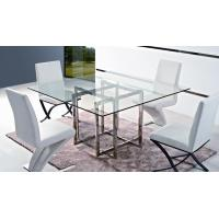 fancy design stainless steel dining table with glass top T793 Manufactures