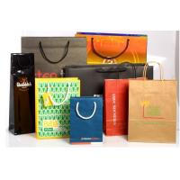 Recyclable Customized Paper Bags Full Color Printing Kraft With Handles Manufactures
