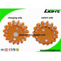 Waterproof IP65 Rechargeable Amber LED Road Flares Flashing Warning Light Roadside Flare Emergency Disc Beacon Manufactures