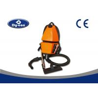 Battery Powered Backpack Vacuum Cleaner For Supermarket  / Hotel Yellow Color Manufactures