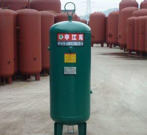 Carbon Steel Vertical Air Compressor Tank , Air Storage Tank 8 / 10 / 13 / 16 bar Manufactures