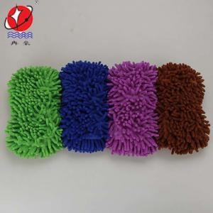 China Microfiber Chenille Car Wash Sponge on sale