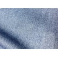 Light Blue Lightweight Denim Fabric By The Yard For Trousers / Bedding Manufactures