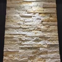 China Yellow Sandstone Mini Panel Cultured Stone , Natural Stone Ledger Panels on sale