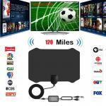 Strongest Indoor HD Digital TV Antenna With Signal Amplifier 4K 1080P HDTV