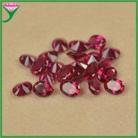 chinese imports wholesale 8# oval cut red rose synthetic corundum stone for jewelry making Manufactures