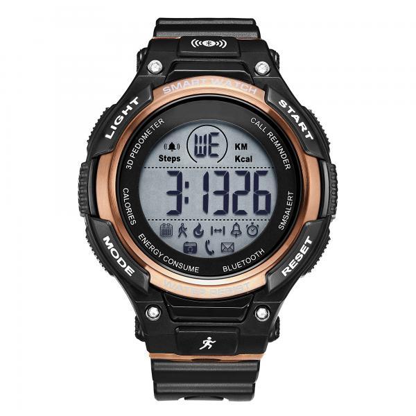 Quality Men's Silicone  Wrist Watch ,Bluetooth Smart Watch , Luxury Waterproof SmartWatch,Military Digital Pedometer Smartwatch for sale