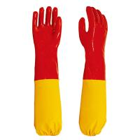 new style PVC gloves with long sleeve cuff  chemical industrail Manufactures