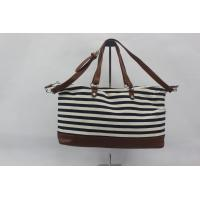 China Black And White Custom Made Canvas Bags Women Standard , Long Life Time on sale