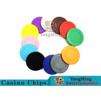 Roulette Dedicated Solid Color Plastic Poker Chips With Customized Print Logo Manufactures