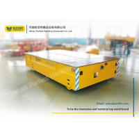 30 Ton Yellow Electric Trailer Trolley / Rail Transfer Cart Storage Battery Manufactures