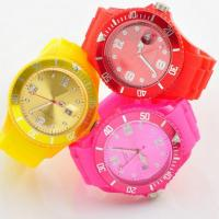 Colorful Custom Silicone Wristband Watch Embossed / Silicone Watch Strap Manufactures