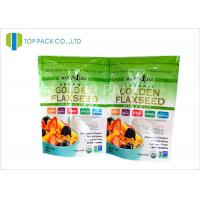 Plastic Laminated Glossy Finished resealable stand up pouches For Fruit Manufactures