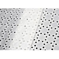 Allover Swiss Eyelet Cotton Embroidery Lace Fabric With 100% Original Cotton Yarn Manufactures