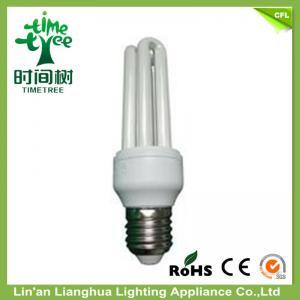 High Brightness U Shaped Fluorescent Light Bulbs 3U 22 Watt Triband Phosphor Manufactures