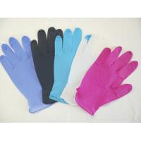 China Colored Powder Free Nitrile Disposable Gloves For Medical / Industry Field on sale