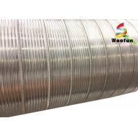 "Semi Rigid Flexible Aluminum Air Duct 12"" Flame Retardant Smooth Cleaning Surface Manufactures"