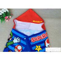 China Hooded Poncho Beach Towel Plain Style , Childrens Towelling Ponchos Various Size wholesale